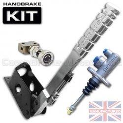 Hydrauliczny hamulec ręczny Compbrake Premier pionowy, z pompą AP Racing, korektorem siły hamowania