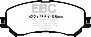 Klocki hamulcowe EBC Greenstuff przód RENAULT Megane Hatch (Mk4) 1.6 Turbo 2016-