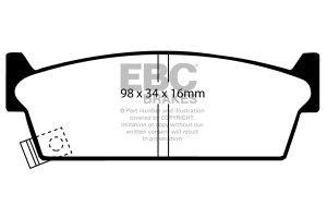 Klocki hamulcowe EBC Greenstuff tył NISSAN Skyline (R32) 2,5 91-93
