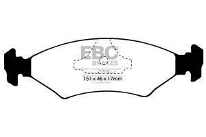 Klocki hamulcowe EBC Bluestuff przód FORD Fiesta (Mk3) 1.3 Classic (ABS) 95-97
