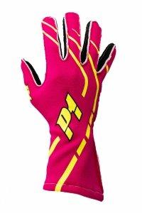 Rękawice P1 Advanced Racewear GRIP2 różowe (FIA)