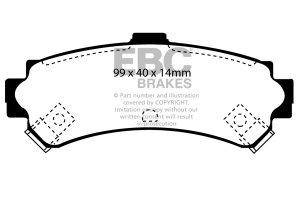 Klocki hamulcowe EBC Greenstuff tył NISSAN Almera 1.4 (ABS) 95-98