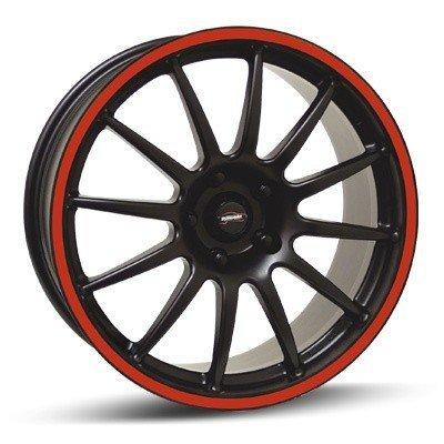 Felga Team Dynamics PRO RACE 1.2S 7x16 czarny z czerwonym