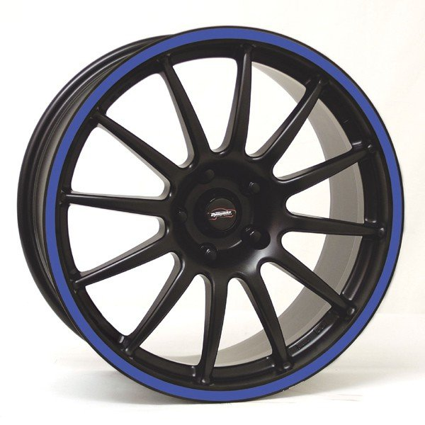 Felga Team Dynamics PRO RACE 1.2S 7x15 czarny z niebieskim