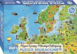 PUZZLE 260 EUROPA MAPA MŁODEGO ODKRYWCY DLA DZIECI