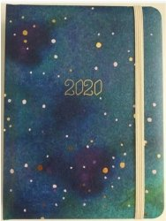 KALENDARZ 2020 Z GUMKA B6 GLAMOUR WSZECHŚWIAT DNS 35986