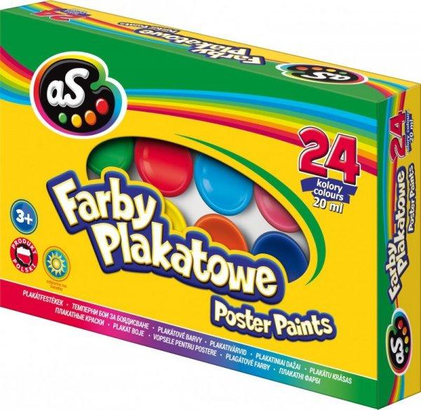 Farby Astra as plakatowe 24 kolory 20 ml