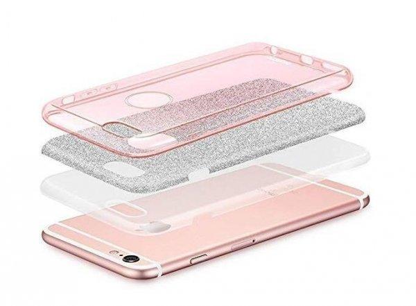 Wozinsky Glitter Case błyszczące etui pokrowiec z brokatem Huawei Mate 30 Lite srebrny