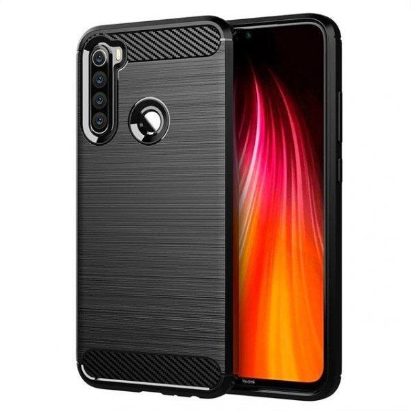 Carbon Case elastyczne etui pokrowiec Xiaomi Redmi Note 8 czarny