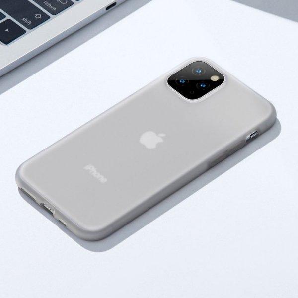 Baseus Jelly matowo przezroczyste żelowe etui pokrowiec iPhone 11 Pro czarny (WIAPIPH58S-GD01)