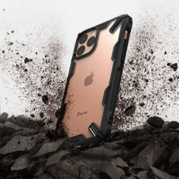 Ringke Fusion X etui pancerny pokrowiec z ramką iPhone 11 Pro Max czarny (FUAP0019)