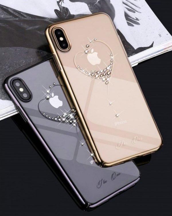 Kingxbar Wish Series etui ozdobione oryginalnymi Kryształami Swarovskiego iPhone 11 srebrny