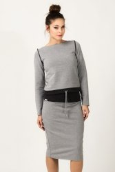 Bluza Damska Model Milena 2 Light Grey/Navy