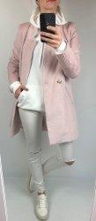 Sztruksowy Płaszcz Dirty Pink