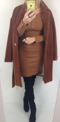 Sukienka Bawełna Karmel  Lila Lou
