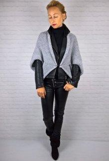 Włoski Sweter Ponczo Narzutka