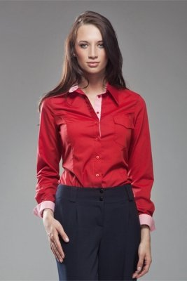 Koszula K36 Kratka/Red