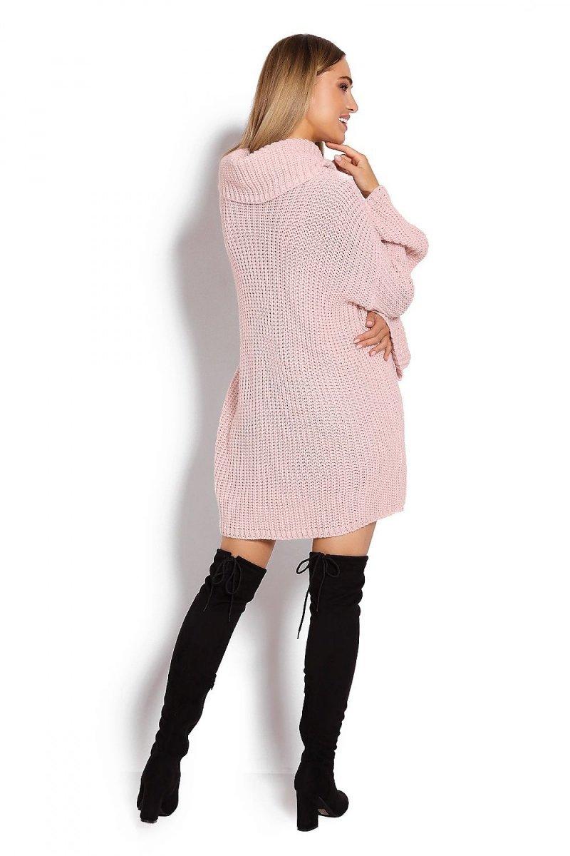Długi Sweter Peekaboo Róż