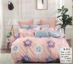 Pościel Mengtianzi 160x200 Szara - Różowa w Kwiaty 100% bawełna wz B-813