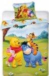 Pościel dla dzieci Disney 100x135 Kubuś Puchatek 100% bawełna Faro Kubuś 033