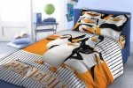 Pościel Pingwiny z Madagaskaru 160x200 cm Faro 100% bawełna
