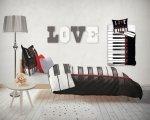 Pościel młodzieżowa 3D 160x200 I Love music - Keybord - Carbotex 100% bawełna