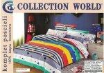 Pościel Collection World 160x200 dla dzieci -Kolorowa w Gwiazdki - 100% bawełna wz 437