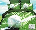 Pościel 3D Piłka Nożna Stadion 160x200 z prześcieradłem. Satnyna Bawełniana Milano wz. PN 21