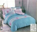 Pościel Mengtianzi Niebieska - Fioletowa 200x220 100% bawełna B-867