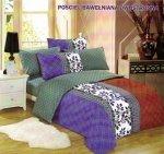 Pościel Cotton World 160x200 Szaro - Fioletowa 100% bawełna wz. 100