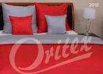 Pościel z makosatyny Czerwona - Szara Oritex 160x200 Prestige 100% bawełna wz. 2010