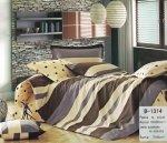 Pościel Mengtianzi 140x200 Brązowa 100% bawełna B-1314