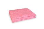 Kołdra puchowa 200x220 cm Różowa w białe piórka. Kołdra z puchu gęsiego Polpuch.