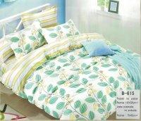 Pościel Mengtianzi 140x200 Kolorowa w Liście 100% bawełna wz B-615