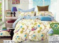 Pościel Collection World 160x200 dla dzieci - Kolorowa w Sówki - 100% bawełna wz 707