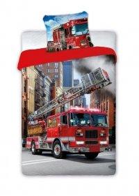 Pościel młodzieżowa Wóz Strażacki - Straż Pożarna 160x200 Faro 100% bawełna wz Turbo 001