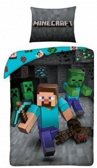 Pościel Minecraft 160x200 Alex i Creeper. Pościel dla dzieci Minecraft kolorowa.