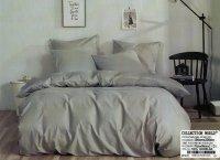 Pościel Collection World 200x220 Szara Gładka 100% bawełna wz 1420