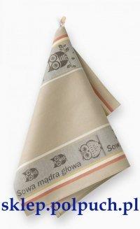 Ściereczka kuchenna Zwoltex Czapla - Sowa Beżowa - 50x70 cm 100% bawełna
