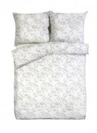 Ekskluzywna pościel satynowa Andropol 160x200 cm 100% bawełna wz. 18 662/1. Biała w Kwiaty pościel 160x200