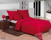 Pościel satynowa Matex Exclusive 160x200 Gładka - Czerwona 100% bawełna wz SGJ-20