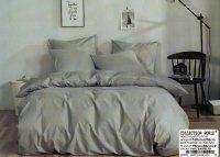 Pościel Collection World 160x200 Szara Gładka 100% bawełna wz 1420. Gładka Szara pościel 160x200.