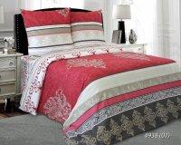 Pościel bawełniana 160x200 Ecru - Czerwona Luxury 100% bawełna. Pościel Czerwona 160x200