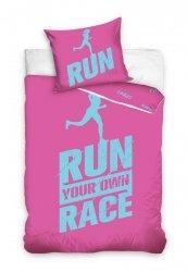 Pościel z Perkalu 140x200 Różowa- Dla sportowców - Carbotex 100% bawełna - Najwyższa jakość bawełny!