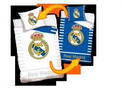 Dwustronna pościel Real Madryt 160x200 100% bawełna Carbotex RM 8032 Real Madrid Piłka Nożna
