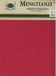 Czerwone prześcieradło bez gumki 160x200 cm 100% bawełna Mengtianzi P-126