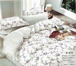 Pościel Mengtianzi Biała w Kwiaty 160x200 100% bawełna B-674