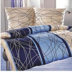 Ekskluzywna pościel satynowa Andropol 160x200 cm 100% bawełna wz. 17325/4. Niebieska pościel 160x200