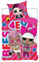 Pościel LOL Suprise 160x200 Różowa dla dziewczynki Carbotex LOL 19-197-01