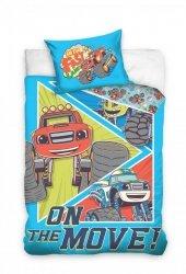 Pościel Blaze i Mega Maszyny dla dzieci 100x135 + poszewka 40x60 cm Carbotex 100% bawełna BMM173006